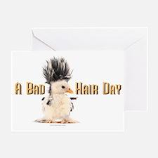 Cute Bad hair day Greeting Card