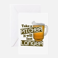 Beer Humor Take A Pitcher Greeting Cards