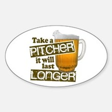 Beer Humor Take A Pitcher Decal