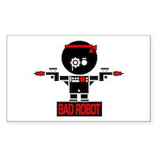 BAD ROBOT GUNS Rectangle Decal
