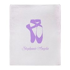 Team Pointe Ballet Lilac Personalize Throw Blanket