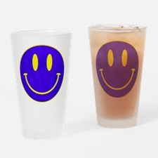 Happy FACE vintage blue Drinking Glass