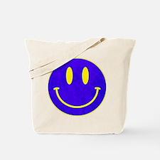 Happy FACE vintage blue Tote Bag