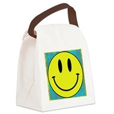 Happy FACE Smiley Canvas Lunch Bag