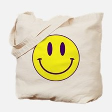 Happy FACE Purple and Gold Tote Bag