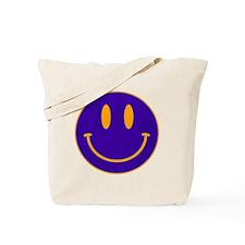 Happy FACE Blue Orange Tote Bag