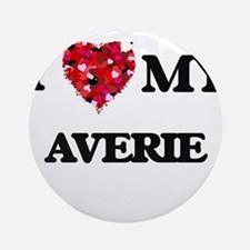 I love my Averie Ornament (Round)