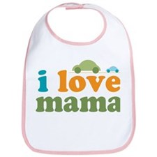I Love Mama Cars Bib