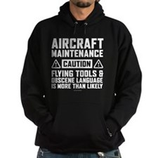 Aircraft Maintenance Caution Hoody