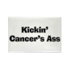 Kicking Cancer's Ass Rectangle Magnet