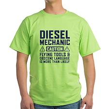 Diesel Mechanic Caution T-Shirt