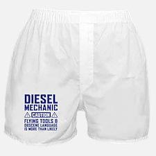 Diesel Mechanic Caution Boxer Shorts