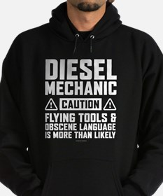 Diesel Mechanic Caution Hoodie