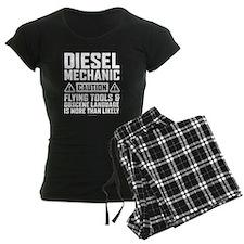 Diesel Mechanic Caution Pajamas