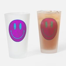 Happy FACE Turq EYES Drinking Glass