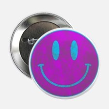 "Happy FACE Turq EYES 2.25"" Button"