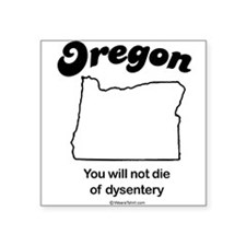 "Cute Map oregon Square Sticker 3"" x 3"""