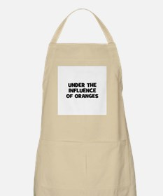 under the influence of orange BBQ Apron