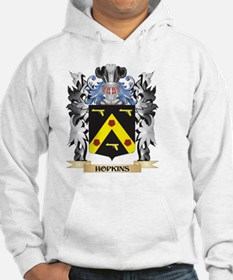 Hopkins Coat of Arms - Family Cr Hoodie