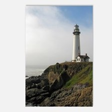 Lighthouse on Cliff Postcards (Package of 8)