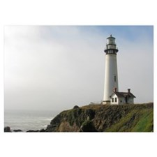 Lighthouse on Cliff Invitations