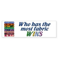 Most Fabric Bright Bumper Car Sticker