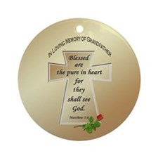 In Loving Memory of Grandfather Ornament (Round)