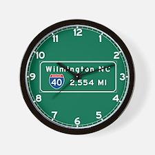 wilmington, nc - barstow, ca Wall Clock