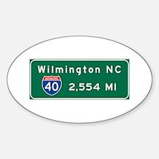 wilmington, nc - barstow, ca Sticker (Oval)