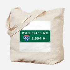 wilmington, nc - barstow, ca Tote Bag