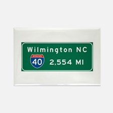 wilmington, nc - barstow, ca Rectangle Magnet