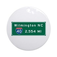 wilmington, nc - barstow, ca Ornament (Round)