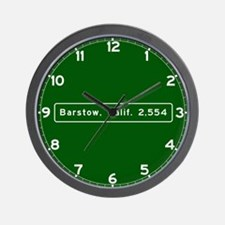 barstow, ca - wilmington, nc Wall Clock