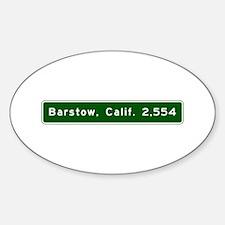 barstow, ca - wilmington, nc Sticker (Oval)