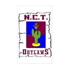 N.C.T. Outlaws Rectangle Decal