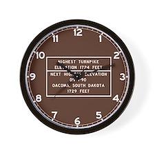 Highest Turnpike Elevation, Massachuset Wall Clock