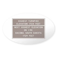 Highest Turnpike Elevation, Massach Decal