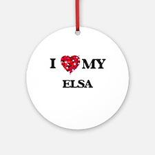 I love my Elsa Ornament (Round)