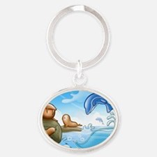 drawings for kids Oval Keychain