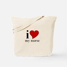 iHeart My Nurse Tote Bag