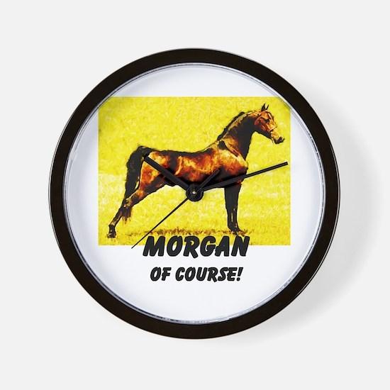 AFTM Morgan Horse Of Course Wall Clock