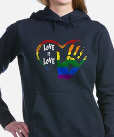 love is love1 Women's Hooded Sweatshirt