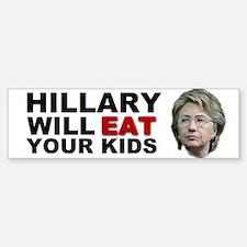 Hillary Eats Kids Bumper Bumper Bumper Sticker