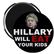 Hillary Eats Kids Magnet