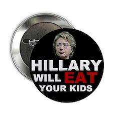 """Hillary Eats Kids 2.25"""" Button (10 pack)"""