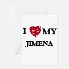 I love my Jimena Greeting Cards