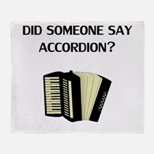 Did Someone Say Accordion? Throw Blanket