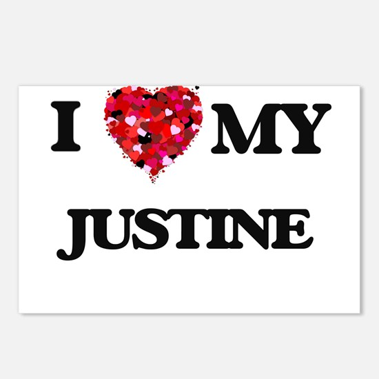 I love my Justine Postcards (Package of 8)