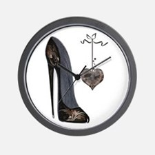 Stiletto and Heart Wall Clock