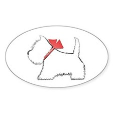 Cute Westie Dog Art Decal